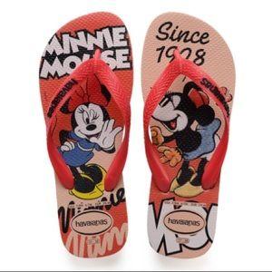 NWOT: Minnie Mouse Havaiana Flip Flops!!!